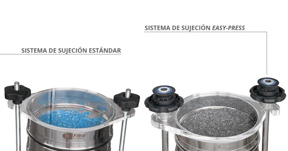 Sujeción tamizadora - zaranda de equipo de laboratorio