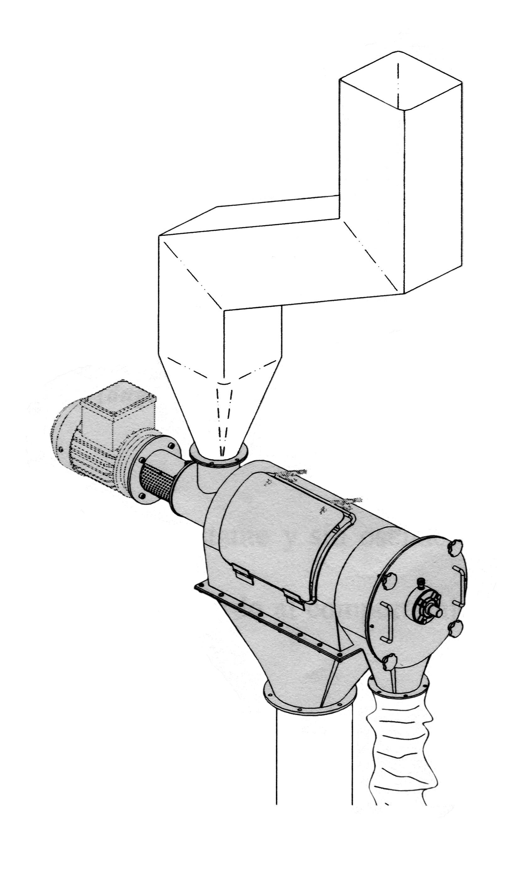 Dibujo técnico tamizadora centrífuga
