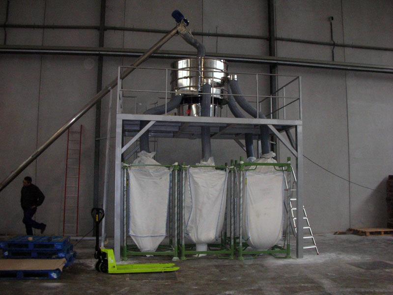 Tamizado ZEUS en planta industrial