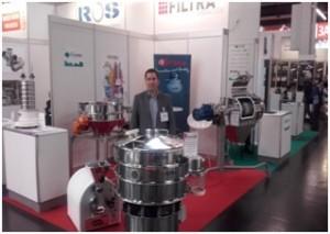 Filtra: Tamizadoras circulares, centrífugas, molinos y tamizadoras de laboratorio, en Powtech.